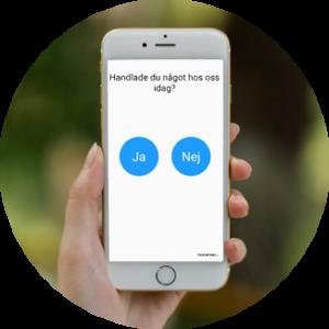 Touchpoint enkät kundfeedback i mobiltelefon