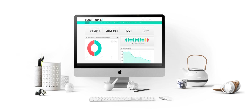 Webbportal med kundfeedback i färdiga grafer